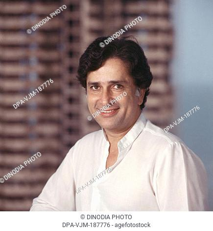 1981, Portrait of Indian film actor and producer Shashi Kapoor