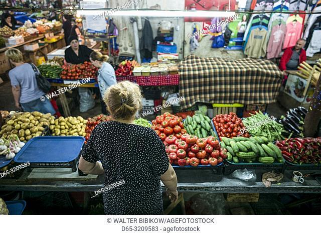Georgia, Kutaisi, Kutaisi Market, interior, NR