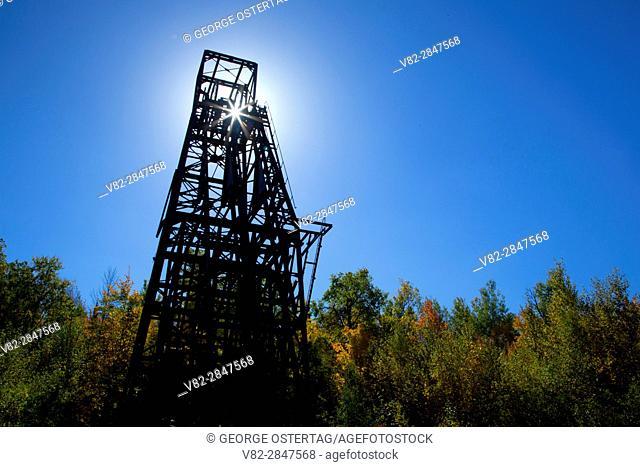 Headframe, Plummer Mine Mainframe Interpretive Park, Penokee Iron Range Trail, Iron County, Wisconsin