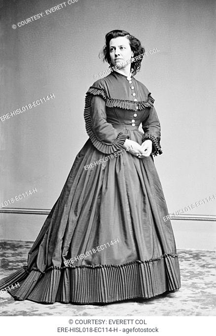 Pauline Cushman 1833-1893, Union Spy during the U.S. Civil War. When caught she was sentenced to hang, but was saved three days prior to her scheduled execution...