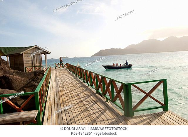 dock on the island of Providencia, Colombia