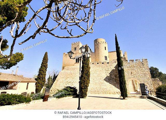 X century castle. Castellet i la Gornal, municipality in the comarca of the Alt Penedès in Barcelona, Catalonia, Spain. Situated in the valley of the Foix river...
