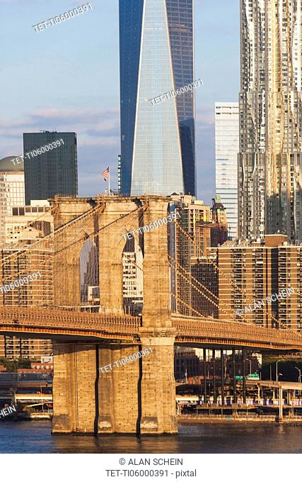 Brooklyn Bridge and One World Trade Center