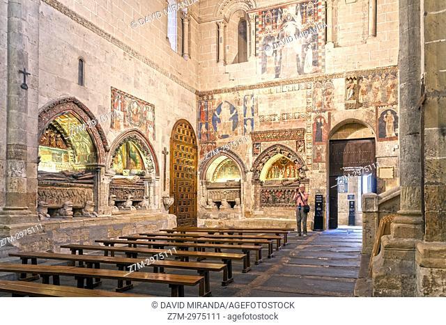 Sepulcros policromados de la Catedral Vieja de Salamanca. Ciudad Patrimonio de la Humanidad. Castilla León. España