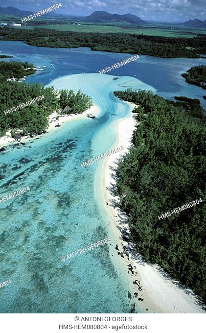 Mauritius Island, île aux Cerfs (aerial view)