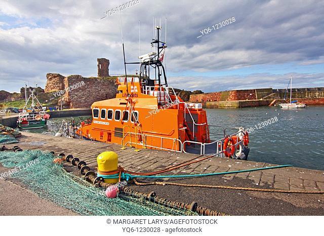 Old, fishing harbour in Dunbar, Scotland, UK