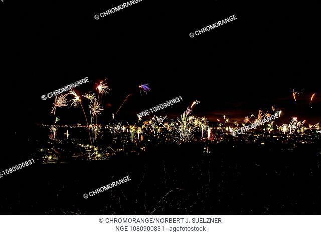 New Year fireworks over Bad Iburg 2