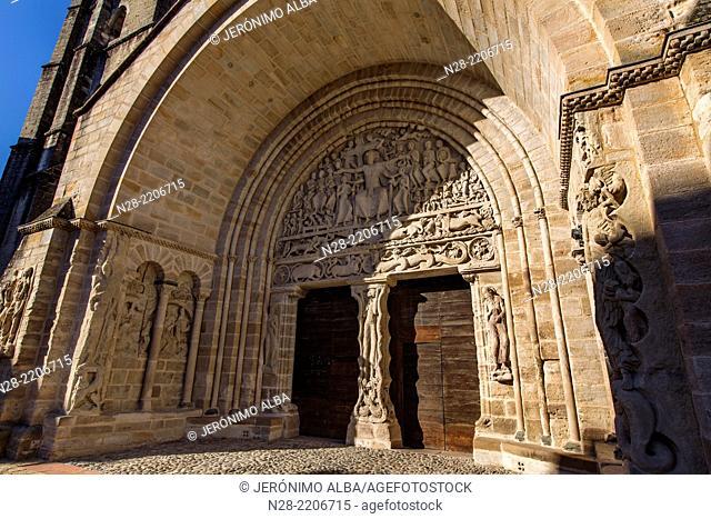 Romanesque tympanum portico, Benedictine and Cluniac monastery, Moissac, France