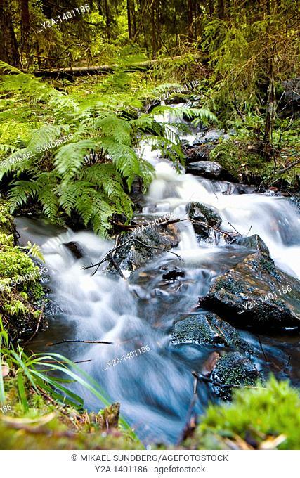 Annaboda waterfall, Sweden