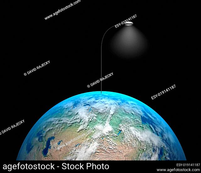Earth with lamp