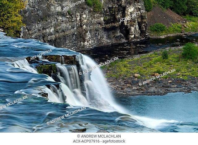 Kakabeka Falls on the Kaministiquia River is also known as the Niagara of the North  Kakabeka Falls Provincial Park near Thunder Bay, Ontario, Canada