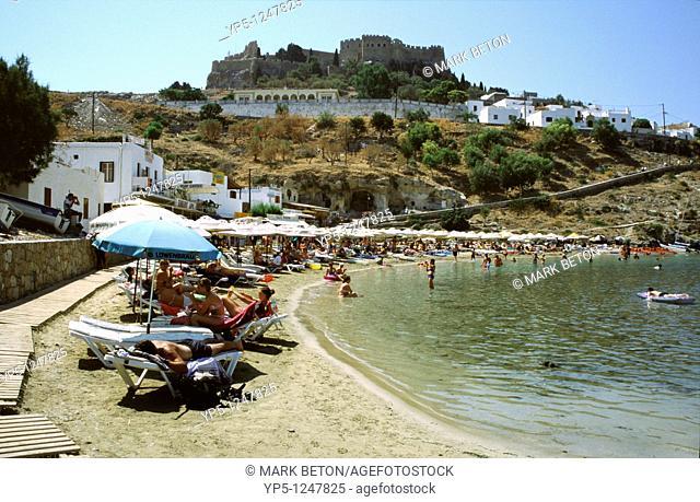 Lindos beach Rhodes Greece