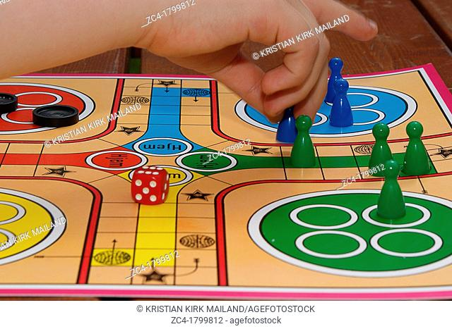 Playing ludo
