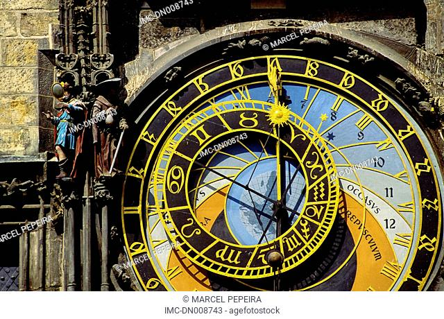Czech republic, Prague, astronomical clock of the town hall