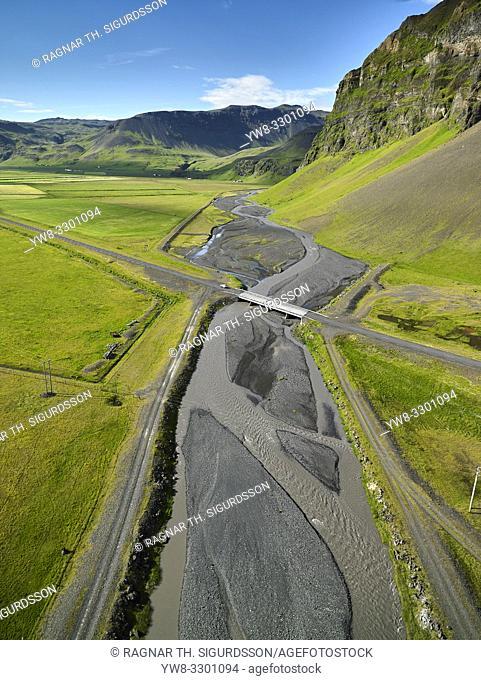 Drangshlidardalur valley, Drangshlidarfjall, South Coast, Iceland