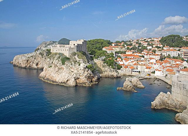 St Lawrence Fort from the Old Town Wall, Dubrovnik, Croatia