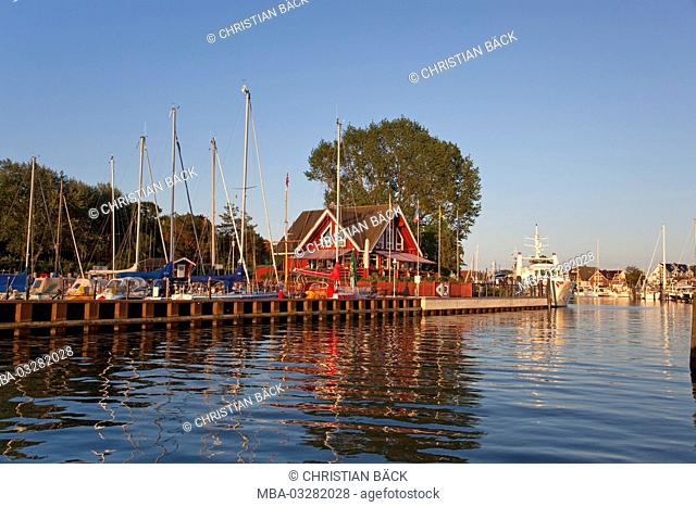 Harbour in Niendorf at the Baltic Sea, at Timmendorfer beach, Schleswig - Holstein, North Germany, Germany