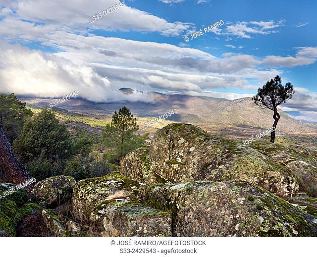 Guisando peak in the Sierra de Gredos. Avila. Castilla Leon. Spain. Europe