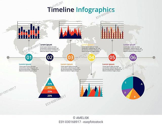 Vector illustration Timeline. flat design. Stock vector