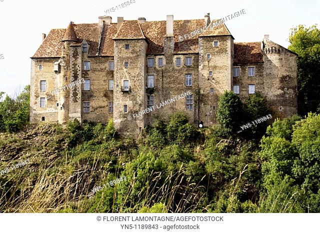 France, Limousin province, Departement of Creuse 23, Boussac   Castle of Boussac 15th century where the tapestry of La Licorne has been found by Proper Merimée...