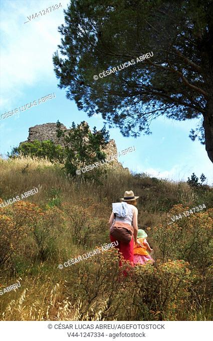Castle of Begur, Costa Brava. Girona, Spain