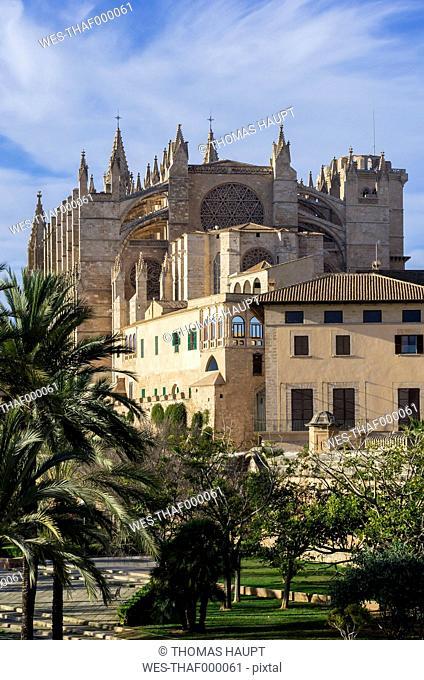 Spain, Majorca, Palma, Cathedral La Seu