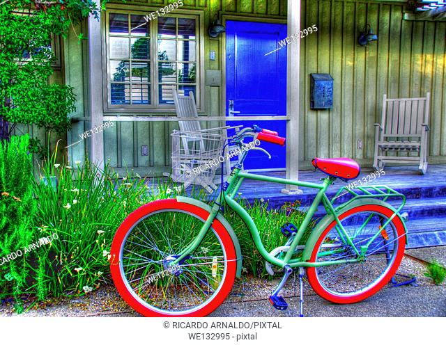 Green Bicycle by Green Cottage, Napa, California