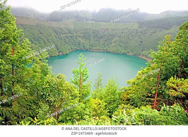 Santiago lagoon Sete Cidades Sao Miguel island Azores Portugal