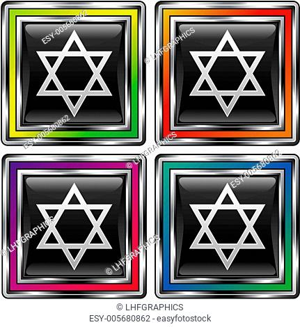 Star of David black box button