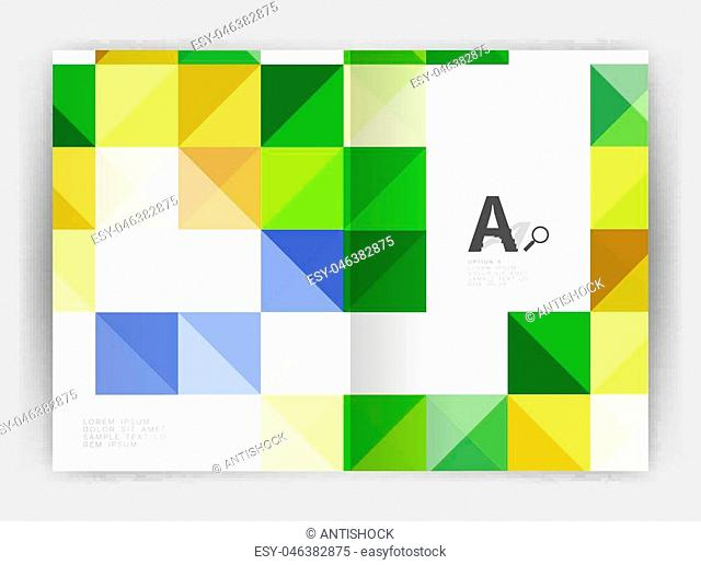 Vector square template background with infographics
