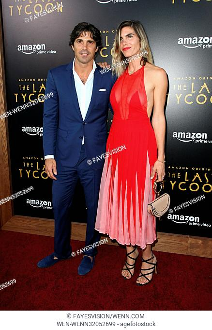 Premiere of Amazon Studios' 'The Last Tycoon' at Harmony Gold Theatre - Arrivals Featuring: Delfina Blaquier, Nacho Figueras Where: West Hollywood, California