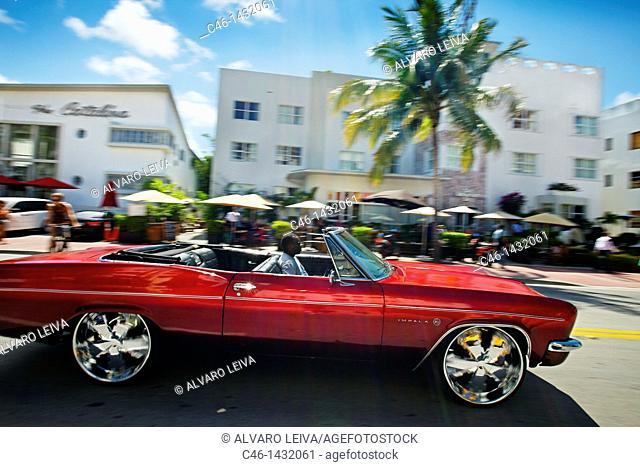 Collins Avenue, South Beach, Miami, Florida, USA