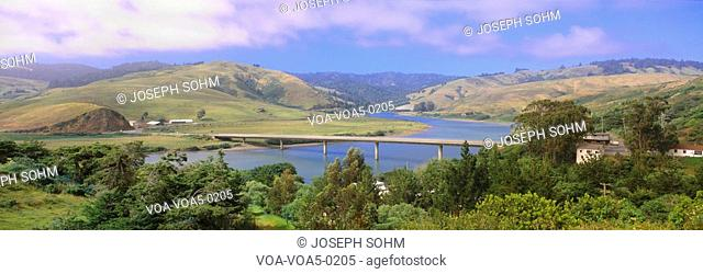 Route 1, Bridge over Russian River, Sonoma County, California