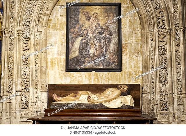 El Altar del Cristo de la Agonía Redentora, New Cathedral of Salamanca, Salamanca City, Spain, Europe