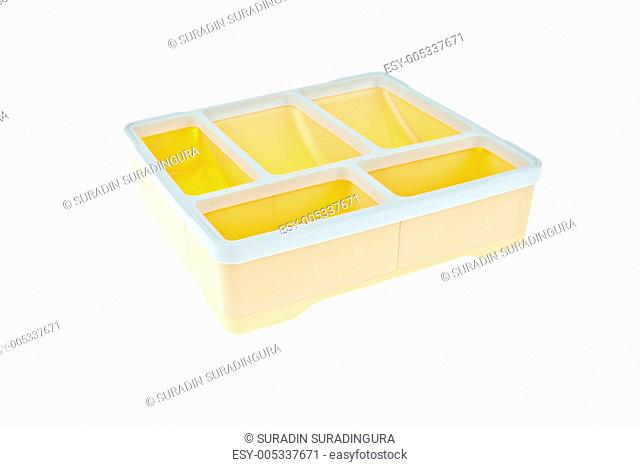 Plastic box isolated on white background