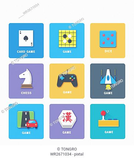 Various icons related to game