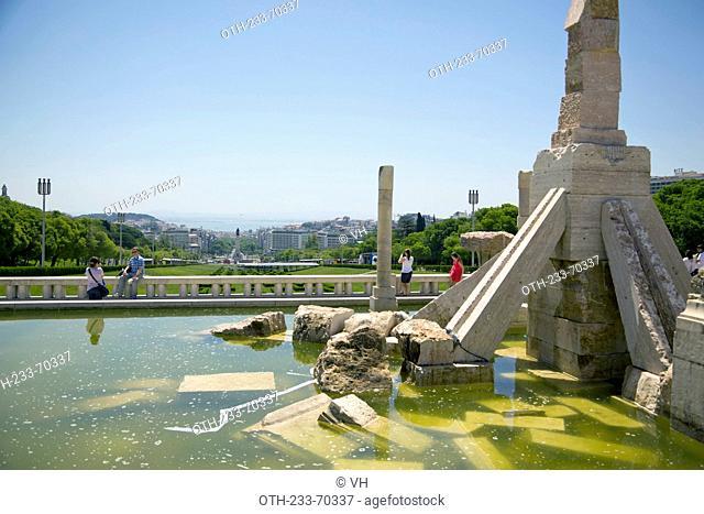 Parque Educardo VII park, Lisbon, Portugal, Europe
