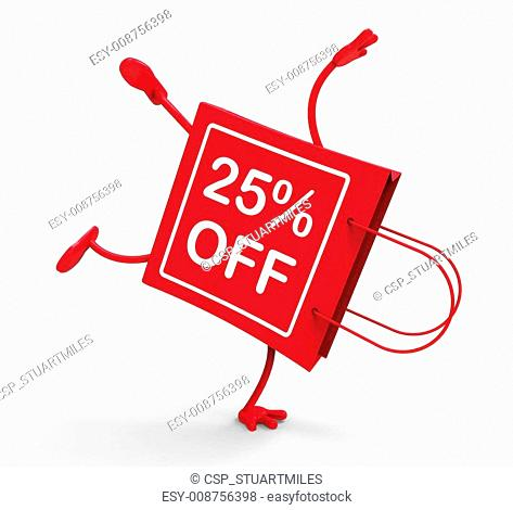 Handstand Shopping Bag Shows Sale Discount Twenty Five Percent O
