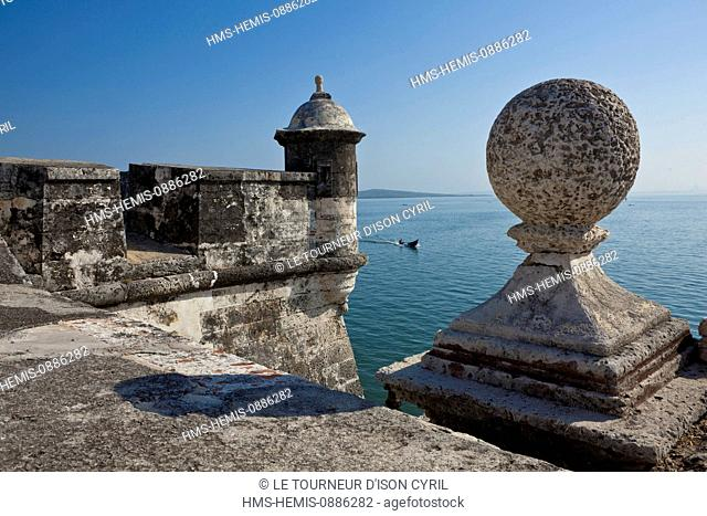 Colombia, Bolivar Department, Cartagena, listed as World Heritage by UNESCO, ramparts of San Fernando de Bocachica Fort, in Tierrabomba Island