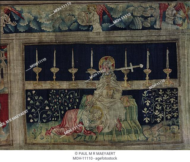 La Tenture de l'Apocalypse d'Angers, Le christ au Glaive 1,54 x 2,41m, Christus mit Schwert