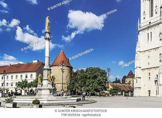 Kaptol is the historical center of Zagreb. Here is also the Zagreb Cathedral. 1873 was created in front of the Cathedral of Zagreb the fountain with the four...
