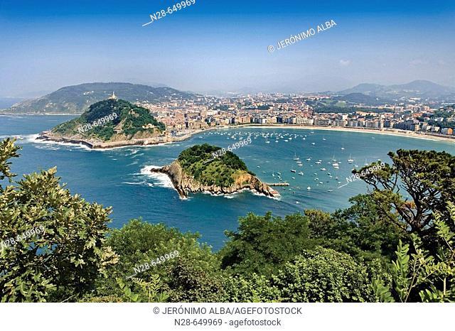 View of San Sebastian from Monte Igeldo, Donostia (San Sebastián). Euskadi. Spain