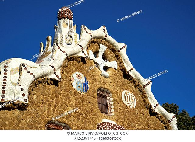 The Parc Güell is a public park system composed of gardens and architectonic elements located on Carmel Hill, in Barcelona Spain