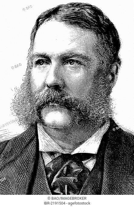 Chester Alan Arthur, 1829 - 1886, 4th March - 20th September 1881 Vice President and after that President of the United States until 4th March 1885