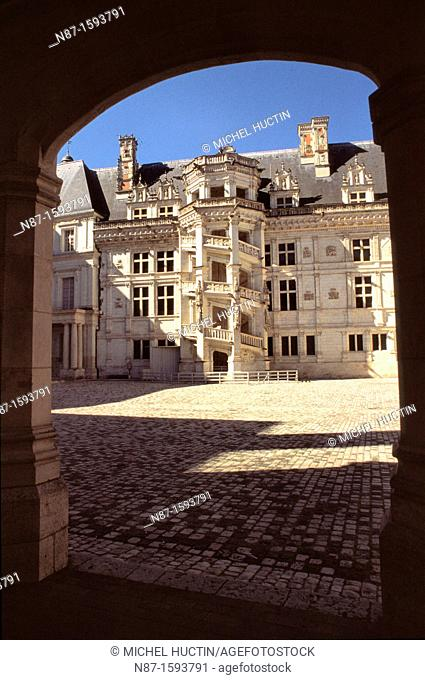 spiral staircase of the castle of Blois