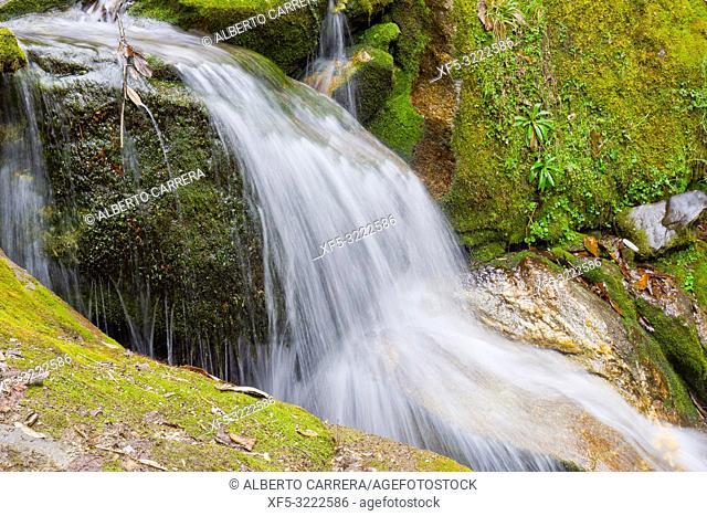 Waterfall, Trek to Annapurna Base Camp, Annapurna Conservation Area, Himalaya, Nepal, Asia