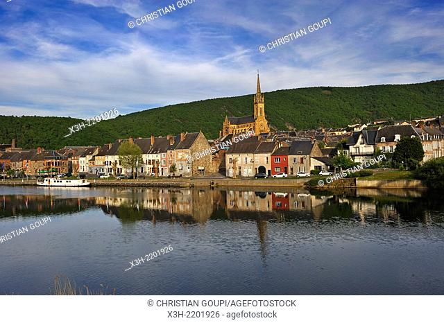 Fumay by the Meuse River, Ardennes department, Champagne-Ardenne region of northeasthern France, Europe