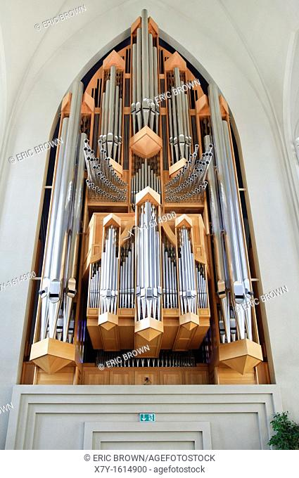 Pipe organ in the Hallgrímskirkja church, Reykjavik, Iceland