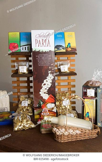 Selection of chocolates, pralines and liquor, Hacienda Bukare, cocoa cultivation and processing, Chacaracual, Rio Caribe, Sucre, Venezuela, South America