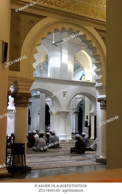 Prayers, Kapitan Keling Mosque, George Town, Penang Hill, Malaysia